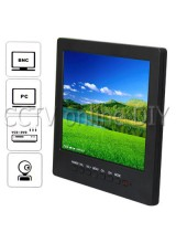 8 inch LCD Color CCTV Monitor with VGA BNC AV Port and Speaker 1024*768 Resolution