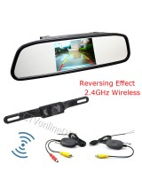 "Universal 4.3"" Inch TFT LCD Car Mirror Rear View Monitor with Wireless Reverse Car Rearview Backup IR Night Visoin Camera Kit"