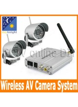 Home 2.4G Wireless Surveillance Security CCTV IR Day and Night CMOS Video Camera System Kit 4CH Reciver