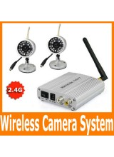 Home 2.4G Wireless Surveillance Security CCTV IR Day and Night CMOS Audio Video Camera System Kit 4CH Reciver