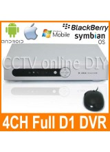 4CH Full D1 Security CCTV Surveillance DVR Digital Video Recorder Support Network Mobile Phone View PTZ Camera Control