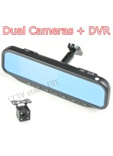 "4.3"" Special Car Rear view Mirror DVR Monitor HD 1280x720 Camera with Bracket Video Input Support Dual Cameras Recording+4G Card"