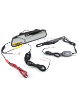 "Wireless 4.3"" LCD Car Rear View Rearview DVD Mirror Monitor + IR Backup Camera"