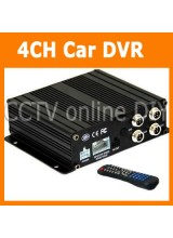 4CH Realtime CCTV H.264 SD Card Mobile Car Vehicle DVR Supports up to 32GB