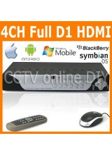 4CH H.264 FUll D1 Realtime Recording 1080P HDMI Port Network Standalone CCTV DVR Support Mobile Phone View