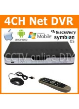 Security 4CH H.264 CIF realtime Recording Standalone Network CCTV DVR IE Mobile Phone Access