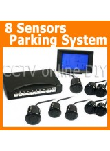 Newest 8pcs Reversing Sensors Car Parking Radar System Kit