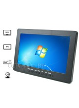 "7"" LCD Color CCTV Monitor with VGA AV Yuv Port 800*480 Resolution 3CH Auto Switch Timer to Turn on/off"