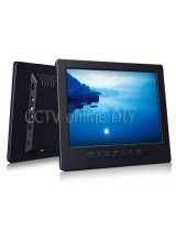 8 inch Color LCD Monitor Built in Analog TV with VGA AV(RCA) Port Speaker Remote Control 800 x 600 Resolution