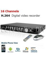 16CH Video Audio H.264 CCTV Network DVR Security System Support Spot Video Out