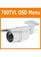 "Security CCTV 700TVL 1/3"" SONY E-Effio CCD OSD Menu Waterproof Outdoor IR Day and Night Camera"