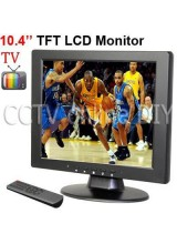10.4 inch TFT LCD 4:3 Screen VGA/AV/ input Monitor with TV 1CH Video input 2Ch Audio input