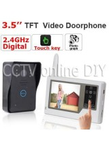 Home 2.4GHz Digital Wireless Video Door Phone Intercom System IR Camera 3.5 inch TFT LCD Touch Key Take Photos