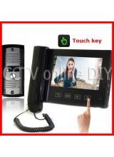 7-Inch Color Video Door Phone Doorbell Intercom System 1 IR Night Vision camera 1-monitor