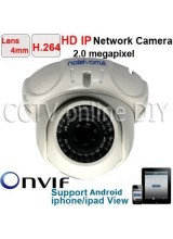 2.0 Mega Pixel 1600*1200 Resolution H.264 Security CCTV HD 42IR Leds Dome IP Camera 4mm Lens Mobile Phone View