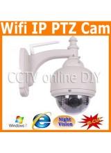 Security CCTV Outdoor Wireless Wifi IP PTZ Waterproof IR Camera support Phone View 4-9mm Zoom Lens 22pcs Leds IR Cut