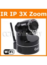 Home Security CCTV 4-9mm Zoom Lens Day&Night PTZ Wireless Wifi IP IR Camera Support 3G Mobile View