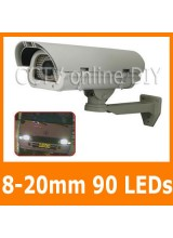 Profession Security CCTV 650TVL Effio CCD 8-20mm Lens 90 Leds Weatherproof Car Number Plate Capture Camera