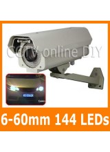 Profession Security CCTV 650TVL Effio CCD 6-60mm Lens 144 Leds Weatherproof Car Number Plate Capture Camera