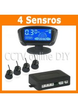 Newest 4 Sensors Car Reversing Parking Radar Alarm System Kit