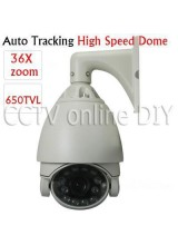 "Security CCTV 7 inch 1/3"" CCD 650TVL 3.2~115.2mm 36X Optical Zoom Auto Tracking High Speed Dome PTZ IR Camera 256 Preset"