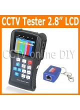"Portable 2.8"" inch TFT LCD Monitor UTP Cable and PTZ CCTV Security Video Camera Tester with Rechargeable Battery"