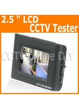Portable Security CCTV Video Camera Tester with 2.5 inch LCD Monitor Rechargeable Battery