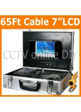20M/65Ft Underwater Fishing Video Camera System Boat Inspection Sharp CCD 9 Light LED Camera 7 inch Color Monitor
