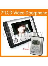 7 inch Color Video Door Phone Doorbell Intercom System 1-camera 1-monitor