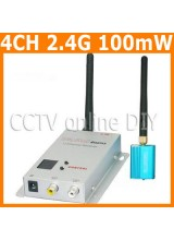 CCTV 4CH 100mW 2.4G Wireless AV Transmitter and Receiver Kit for Security Camera Model Airplane