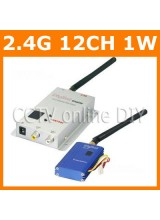 CCTV 12CH 2.4G Wireless AV Transmitter and Receiver Kit for Security Camera Model Airplane