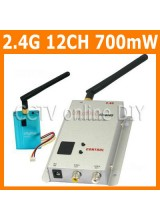 CCTV 12CH 700mW 2.4G Wireless AV Transmitter and Receiver Kit for Security Camera Model Airplane