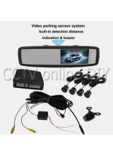 "Universal 4.3"" inch Car Rear View Monitor Video Camera Parking Sensor System Free Shipping"