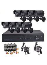 Home 8CH CCTV Security System 8pcs Day and Night Weatherproof Video Camera Surveillance DVR Mobile Phone Access