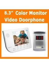 8.3 inch Color Monitor Home Video Door Phone Doorbell Intercom System with Unlock Function