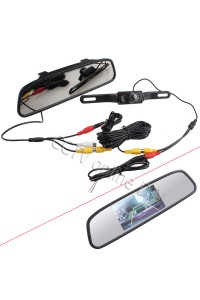 "Car Rear View Kit 4.3"" Screen TFT LCD Car Rear View Rearview DVD Mirror Monitor + Backup Camera"