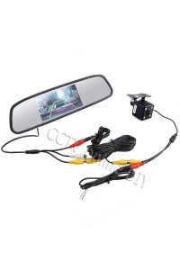 "4.3"" Screen TFT LCD Car Rear View Rearview Mirror Monitor + Backup Camera"
