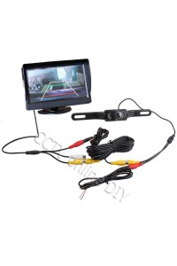 "4.3"" Screen TFT LCD Stand Car Rear View Rearview Monitor + Backup IR Camera"