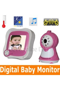 "2013 Home Safety Wireless Baby Monitor 3.5"" Color TFT LCD Night Vision Video Camera Intercom Temperature Display"
