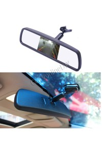 "Special 4.3"" TFT LCD Car Monitor Rear View Mirror with Bracket 2CH Video Input"