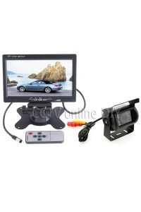 "New 7"" Car/Bus/ Truck Rear View LCD Standalone Monitor System Kit with 18 IR LED Reversing Back up Camera"