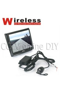 2.4G Wireless Car Rear View Back Up Wide Angle Camera System 3.5inch Color Monitor Screen