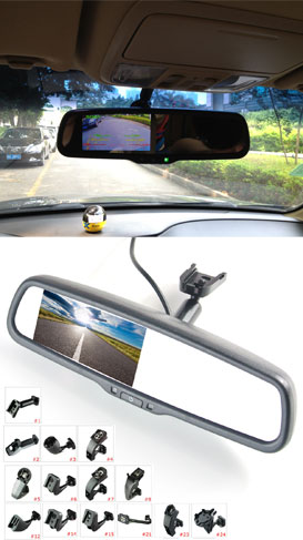 Internal Rear View Mirror Built in 4.3 inch Monitor